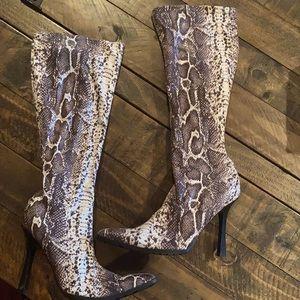 Steve Madden Snakeskin Boots 👢